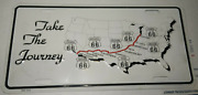 Historic Route 66 Take The Journey Photo License Plate America's Highway Usa