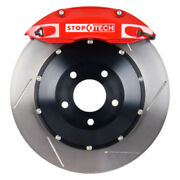 Stoptech For 89-98 Nissan 240sx/silvia Front Bbk W/ Red St-40 Calipers Slotted 3