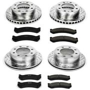 K2027 Powerstop Brake Disc And Pad Kits 4-wheel Set Front And Rear New For Chevy