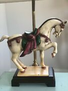 Wildwood Chelsea House Tang Ming Dynasty Horse Equestrian Lamp Rare Cast Iron