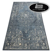 Original Wool Rugs And039 Nainand039 Rosette Vintage Blue Beige Soft Best Quality