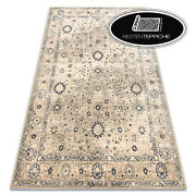 Modern Wool Rugs And039 Nainand039 Ornament Frame Beige Blue Soft Best Quality