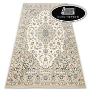 Modern Wool Rugs And039 Nainand039 Ornament Frame Flowers Beige Blue Best Quality