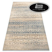Modern Wool Rugs And039 Nainand039 Ornament Vintage Beige Blue Soft Best Quality