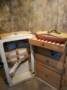 Vintage Antique Wardrobe Steamer Trunk W/drawers And Hangers Pick Up Only