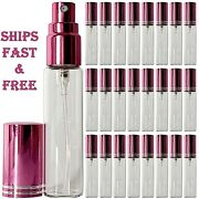 Empty Perfume Glass Bottles 10ml High Quality Atomizer Pink Spray Refillable