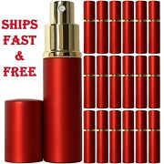 Empty Perfume Bottles Glass 10ml Red Atomizer Deluxe Spray Refillable