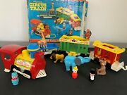 Vintage 1973 Fisher Price Little People Play Family Circus Train 991 With Box