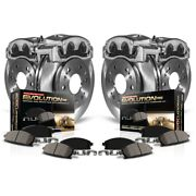 Kcoe5575 Powerstop Brake Disc And Caliper Kits 4-wheel Set Front And Rear For Ford