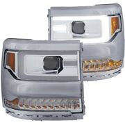 111374 Anzo Headlight Lamp Driver And Passenger Side New For Chevy Lh Rh Chevrolet