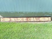 Very Early Rare Wadge Coal Co Victor Colorado Mining Sand Paint Advertising Sign