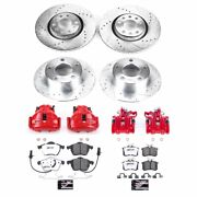 Kc637-26 Powerstop Brake Disc And Caliper Kits 4-wheel Set Front And Rear New