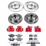 Kc2824 Powerstop Brake Disc And Caliper Kits 4-wheel Set Front And Rear New For A4