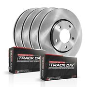 Tdbk4138 Powerstop Brake Disc And Pad Kits 4-wheel Set Front And Rear New For 350z