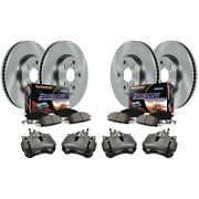 Kcoe1365 Powerstop Brake Disc And Caliper Kits 4-wheel Set Front And Rear New
