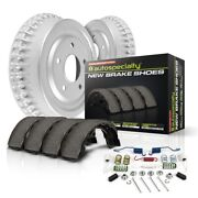 Koe15321dk Powerstop Brake Drum And Shoe Kits 2-wheel Set Rear New For Chevy