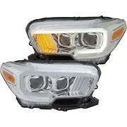 111380 Anzo Headlight Lamp Driver And Passenger Side New Lh Rh For Toyota Tacoma