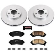 Crk5234 Powerstop Brake Disc And Pad Kits 2-wheel Set Front New For Chevy Olds