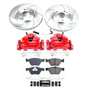 Kc2926 Powerstop 2-wheel Set Brake Disc And Caliper Kits Front For Mercedes