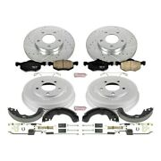 K15209dk Powerstop Brake Disc And Drum Kits 4-wheel Set New For Ford Escape