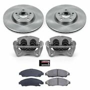 Kcoe5370 Powerstop 2-wheel Set Brake Disc And Caliper Kits Front For Acura Mdx