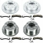 K7384-36 Powerstop Brake Disc And Pad Kits 4-wheel Set Front And Rear New For Gmc