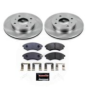 Tdbk656 Powerstop Brake Disc And Pad Kits 2-wheel Set Front New For 240 Sentra