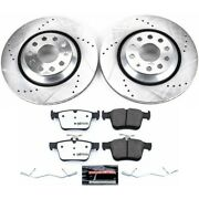 K7084-26 Powerstop 2-wheel Set Brake Disc And Pad Kits Rear New For Vw Gti Rs3