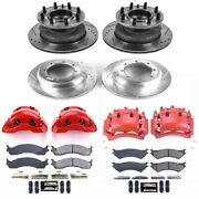 Kc4435a Powerstop Brake Disc And Caliper Kits 4-wheel Set Front And Rear For Ford