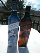 Game Of Thrones Johnnie Walker Scotch Whisky Song Of Fire And Ice 2 Empty Bottles
