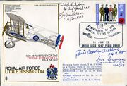Raf Little Rissington Cover Signed By World Air Speed Record Pilot + Aces