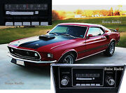 New Slidebar Radio Stereo For 1967-1973 Ford Mustang By Custom Autosound
