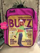 """Barbie Backpack 16 Large School Girls Book Bag Pink - """"buzz Magazine"""" Cover"""