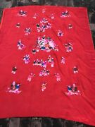 Antiques Chinese Silk Embroidered Wedding Sheet Shawl Tapestry Wall Hanging