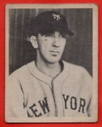 1939 Play Ball 53 Carl Hubbell Good+ Crease Dent New York Giants Free Shipping