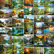 Nice View Natural Scenery Diy Painting By Number Kit Oil Paint Canvas Home Decor