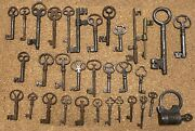 Keys Iron Fitting And Lock Collection Wrought Iron 17th-19th Century