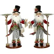 Mark Roberts 2020 Collection Elf With Candle Holder Assortment Of 2 Figurines