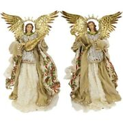 Mark Roberts 2020 Collection Standing Angel Gold Assortment Of 2 Figurines