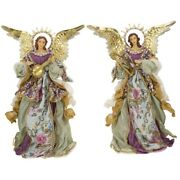 Mark Roberts 2020 Collection Standing Angel With Base Assortment Of 2 Figurines