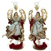 Mark Roberts 2020 Collection Angel Of Venice Votive Holder 2 Figurines