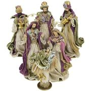Mark Roberts 2020 Collection Tapestry Nativity Set Of 6 Figurines