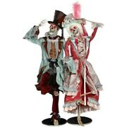 Mark Roberts 2020 Collection Grand Ball Skeleton Assortment Of 2 Figurines