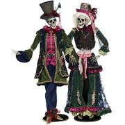 Mark Roberts 2020 Collection Peacock Skeleton Assortment Of 2 Figurines