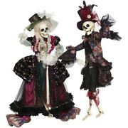 Mark Roberts 2020 Collection Regal Fashion Skeleton Assortment Of 2 Figurines