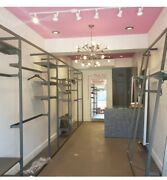 Alu Store Display Fixtures Boutique Style Clothing Garment Racks And Shelves