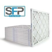 20x25x1 Merv 13 Pleated Ac Furnace Filters. Case Of 12, Captures Airborne Virus