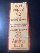 Rare Old Anchor Beer With 1940 Pittsburgh Pirates Home Schedule Match Book