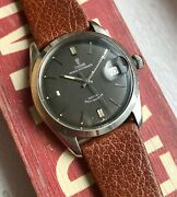 Vintage Tudor Oysterdate Automatic Grey Anthracite Rose Dial Steel Watch