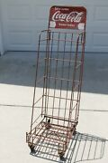 40s Coca Cola Wheeled Metal Store Display Rack Stand Cart Take Some Home Today